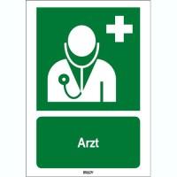 ISO 7010 Zeichen - Arzt-STDE E009-600x200-PP-CRD/1