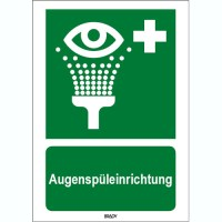 ISO 7010 Zeichen - Augenspüleinrichtung-STDE E011-210x297-PP-CRD/1