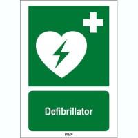ISO 7010 Zeichen - Defibrillator-STDE E010-600x200-PE-CRD/1