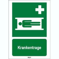 ISO 7010 Zeichen - Krankentrage-STDE E013-148x210-PP-CRD/1