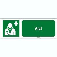 ISO 7010 Zeichen - Arzt-STDE E009-297x105-PE-CRD/1