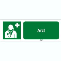 ISO 7010 Zeichen - Arzt-STDE E009-297x105-AL-CRD/1