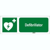 ISO 7010 Zeichen - Defibrillator-STDE E010-297x105-AL-CRD/1