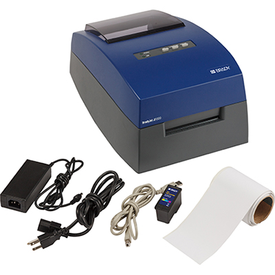 The BradyJet J2000 Colour Label Printer is a practical and easy to use, full colour inkjet benchtop printer that can print reliable, high resolution signs, facility and laboratory sample labels. This printer comes with a free Brady WorkStation Basic Design Software Suite, enabling you to immediately start designing professional signs and labels.