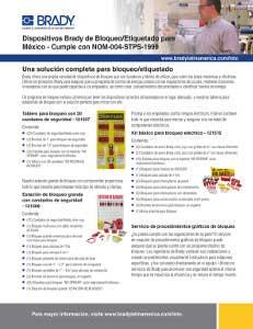 Kits de bloqueo / etiquetado para México y América Latina