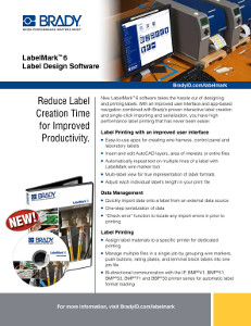 LabelMark 6 Informational Sheet