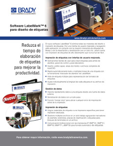 Hoja informativa del software LabelMark 6
