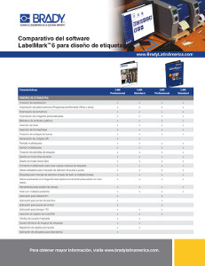 Comparativo del software LabelMark 6