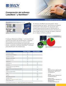 Hoja comparativa del software LabelMark y MarkWare