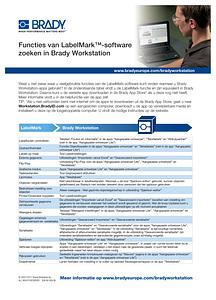 LabelMark Workstation Comparison Sheet - Dutch
