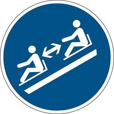ISO Safety Sign - Keep distances