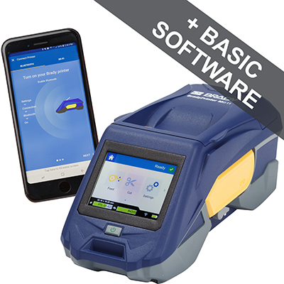 The BradyPrinter M611 Mobile Printer is a smartphone operated printer for cables and components, laboratory samples and complex labeling, electrical and datacom identification using the Brady Workstation Mobile Express Labels app. You can easily create 1D and 2D codes and barcodes with a smartphone, serialise, use an extensive image library, include text, a time stamp and even data from the cloud in a complex label that can easily be designed in just a couple of steps. The Express app offers the most comprehensive label design capabilities available for any smartphone and includes design wizards to quickly create specific identification labels. Join the evolution of smarter identification.
