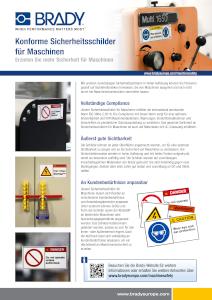 Konforme Sicherheitsschilder für Maschinen - Deutsch