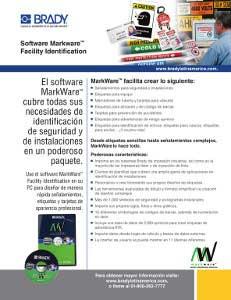 Hoja informativa del software MarkWare 3