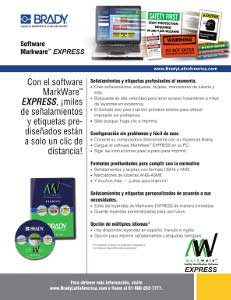 Hoja informativa del software MarkWare Express