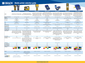 Portable Printer Selection Guide - English