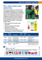 Weekly Inspection Tag sell sheet A5 - Dutch (Multitag Weekly)