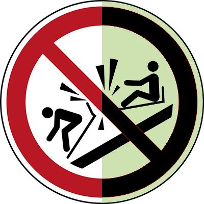 ISO Safety Sign - Do not ram into toboggan-P/P047/NT/PE-PHOLUMC-DIA150-1
