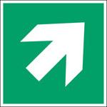 ISO Sicherheitskennzeichnung - Richtungsangabe gerade-PIC A045-200x200-PE-CRD/1