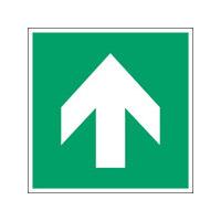 ISO Sicherheitskennzeichnung - Richtungsangabe gerade-PIC A090-010x010-PE-SHEET/1