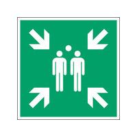 ISO Sicherheitskennzeichnung - Sammelstelle-PIC E007-151x151-BIPVC-CRD/1