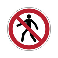 iso safety sign no thoroughfare brady europe