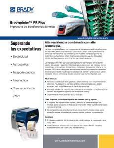 Impresora de transferencia térmica PR Plus