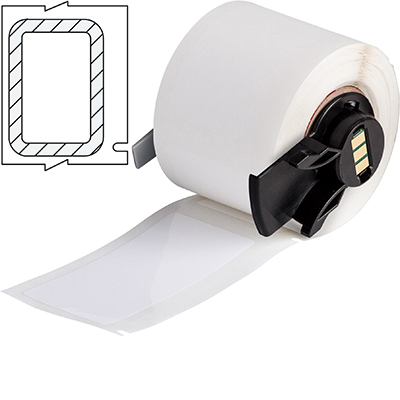 PermaShield™ Labels for the TLS 2200® & TLS PC Link™ Thermal Transfer Portable Printers. A Metallised polyester label that comes with a separate overlaminate to be applied over the label once printed. Overlaminate is a clear polyester (B-966B) that extends 0.125