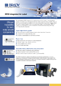 RFID Integrated Air Label Sellsheet in English