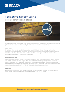 Reflective Safety Signs Infosheet in English