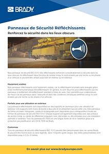 Panneaux de Sécurité Réfléchissants - French