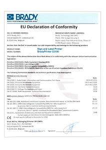 S3100 Declaration of Conformity - English
