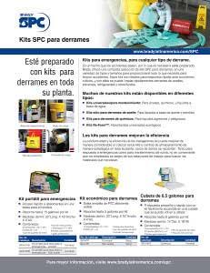 Guía informativa de kits de absorbentes SPC