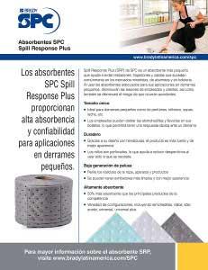 Hoja informativa de los absorbentes SRP