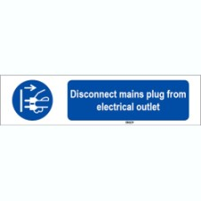 Iso 7010 Sign Disconnect Mains Plug From Electrical Outlet