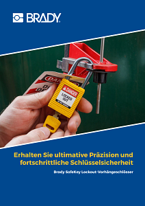 SafeKey Lockout Padlocks brochure in German