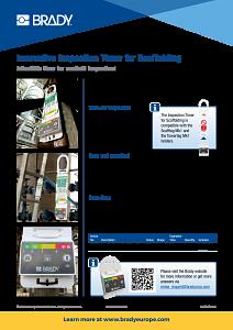 Inspection Timer for Scaffolding sellsheet - English