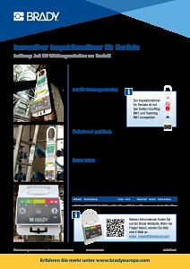 Inspection Timer for Scaffolding sellsheet - German