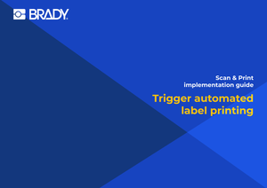 Trigger automated label printing