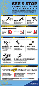 """Slips, Trips and Falls Hazards in Your Workplace"" Infographic"