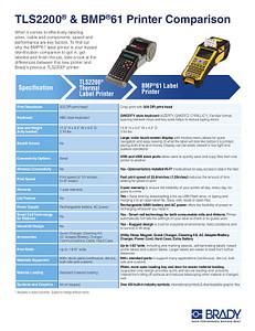 TLS2200 & BMP61 Printer Comparison