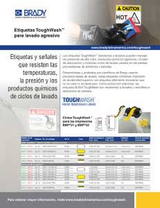 Etiquetas ToughWash resistentes a procesos de lavado