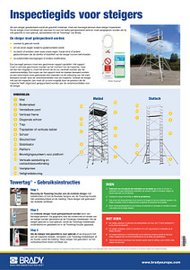 Tower scaffolding Inspection Guide A2 poster - Dutch