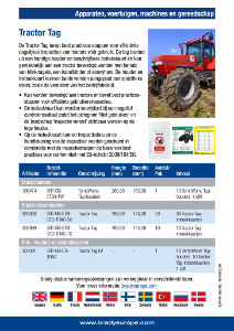 Tractor Tag sell sheet - Dutch