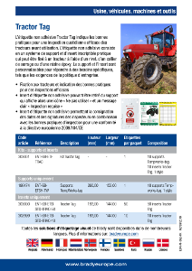 Tractor Tag sell sheet - French