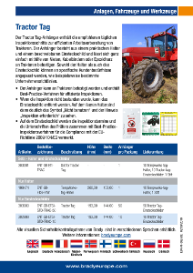 Tractor Tag sell sheet - German