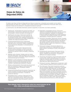Requisitos de las Hojas de Datos de Seguridad