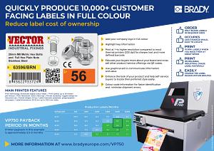 Quickly produce 10000+ customer facing labels in full colour