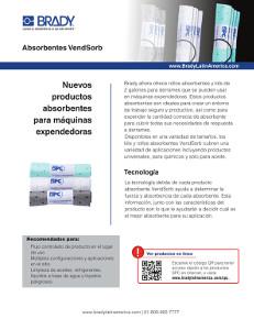 Hoja informativa de los absorbentes VendSorb