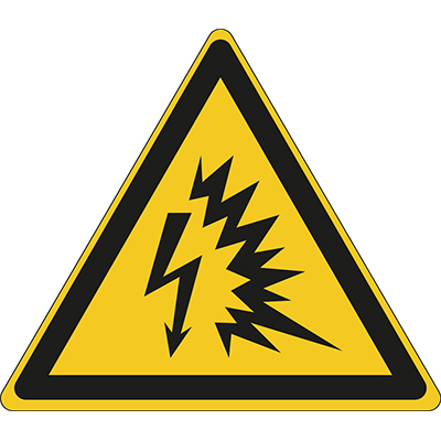 ISO Safety Sign - Warning; Arc flash